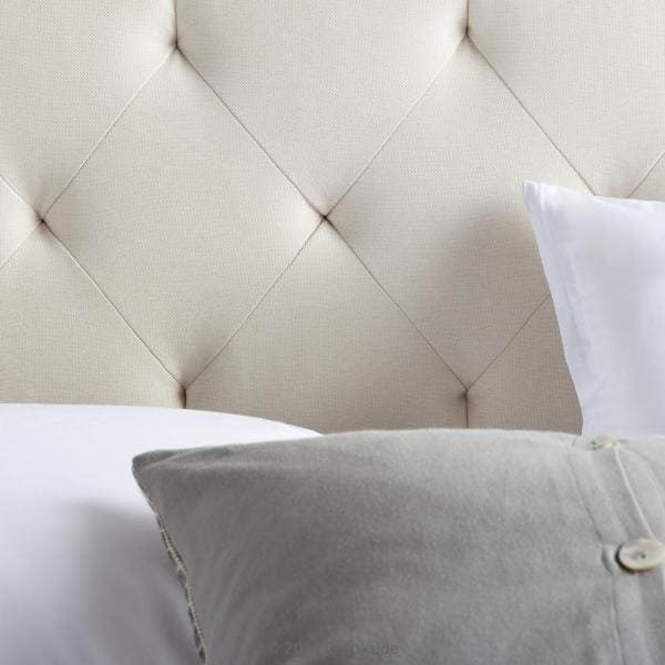 Brookside - Emmie Adjustable Cream Queen Upholstered Headboard