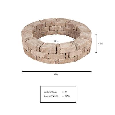 RumbleStone 46 in. x 10.5 in. Tree Ring Kit in Cafe