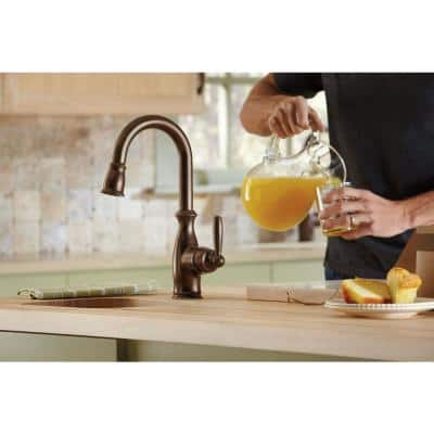 Brantford Single-Handle Pull-Down Sprayer Bar Faucet Featuring Reflex in Oil Rubbed Bronze