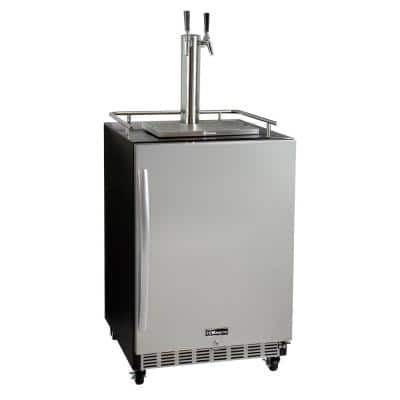 Digital Commercial Undercounter Full Size Beer Keg Dispenser with Dual Tap Commercial Direct Draw Kit