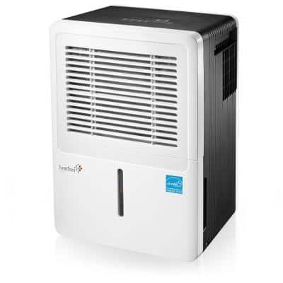 Ivation 70-Pint ENERGY STAR Compressor Dehumidifier for with Programmable Humidistat & Hose Connector upto 4,500 sq. ft.
