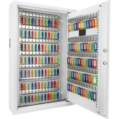 144-Key Position Steel Wall Safe with Digital Keypad, White
