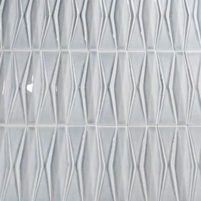 Delphi Harlequin Arctic Blue 13 in. x 16 in. Polished Ceramic Mosaic Tile (1.41 sq. ft./Sheet)