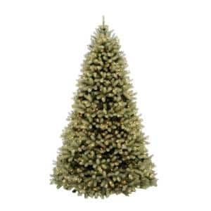 10 ft. Pre-Lit Downswept Douglas Fir Artificial Christmas Tree with Clear Lights