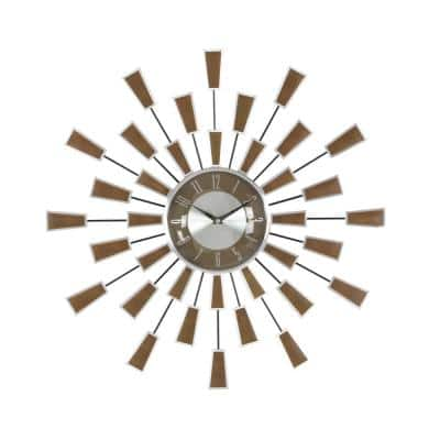 Brown Metal Modern Wall Clock