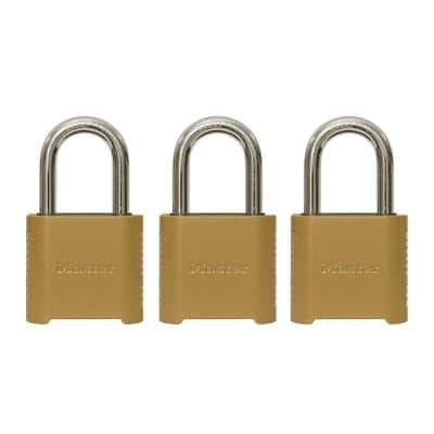 2 in. W (51 mm) Set Your Own Combination Padlock with 1-1/2 in. (38 mm) Shackle (3-Pack)
