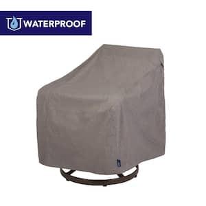 Garrison Waterproof Outdoor Patio Swivel Lounge Chair Cover, 37.5 in. W x 39.25 in. D x 38.5 in. H, Heather Gray