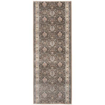 Stratford Adian Latte/Alabaster 26 in. x Your Choice Length Stair Runner