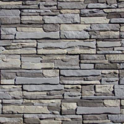 Easy Stack 5 in. x 20 in. Grayson No Mortar Concrete Ledge Stone Flat Panel 100 sq. ft. Crated