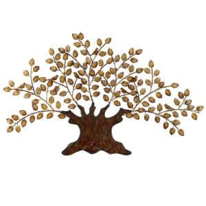 41 in. x 75 in. Brown Metal Traditional Wall Decor