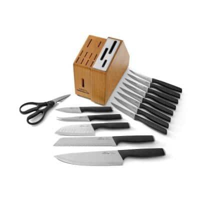 Select 15-Piece Self-Sharpening Cutlery Knife and Block Set