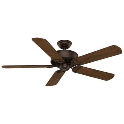 Panama DC 54 in. Indoor Brushed Cocoa Bronze Ceiling Fan with Remote