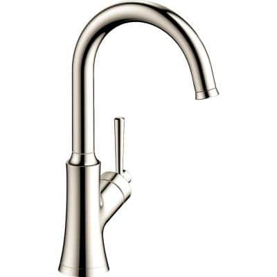 Joleena Single-Handle Bar Faucet in Polished Nickel