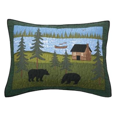 Bear River Green Cotton Standard Sham