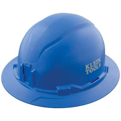 Blue Hard Hat, Non-Vented, Full Brim