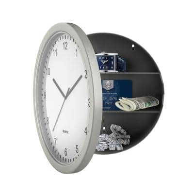 10 in. x 10 in. Circular Wall Clock with Safe