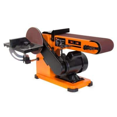 4 in. x 36 in. Belt and 6 in. Disc Corded Sander with Steel Base