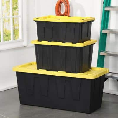 27 Gal. Tough Storage Bin in Black