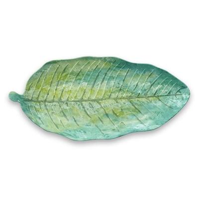 Tropical Leaf Green Bamboo Melamine, 7.25 in. x 15 in.Platter
