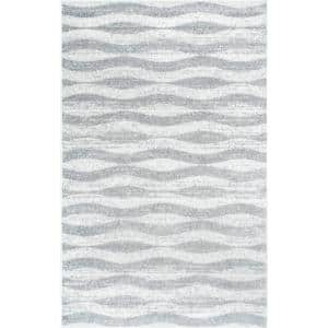 Tristan Modern Striped Gray 8 ft. x 10 ft. Area Rug