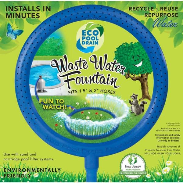 Eco Pool Drain Waste Water Fountain For 1 5 In And 2 In Backwash Hose For Sand And Cartridge Filters 200 The Home Depot