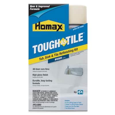 32 oz. Bisque Tough as Tile Aerosol Tub, Sink and Tile Refinishing Kit
