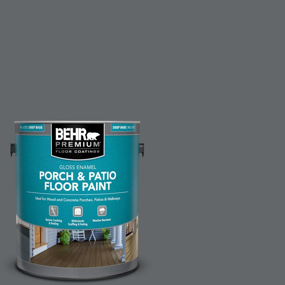 Behr Premium 1 Gal Pfc 65 Flat Top Gloss Enamel Interior Exterior Porch And Patio Floor Paint 673001 The Home Depot