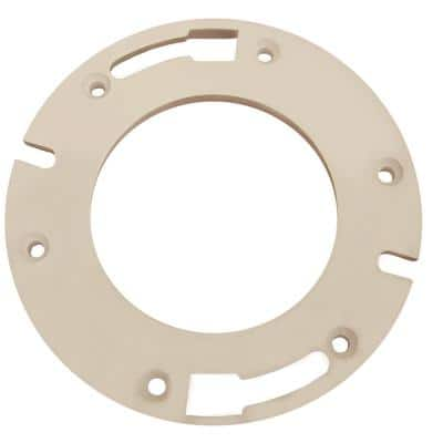 7 in. O.D. x 1/2 in. Thick Heavy Plastic Closet Flange Extension Kit with Bolts