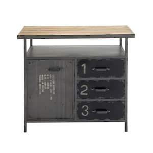 Grey Metal Industrial Cabinet