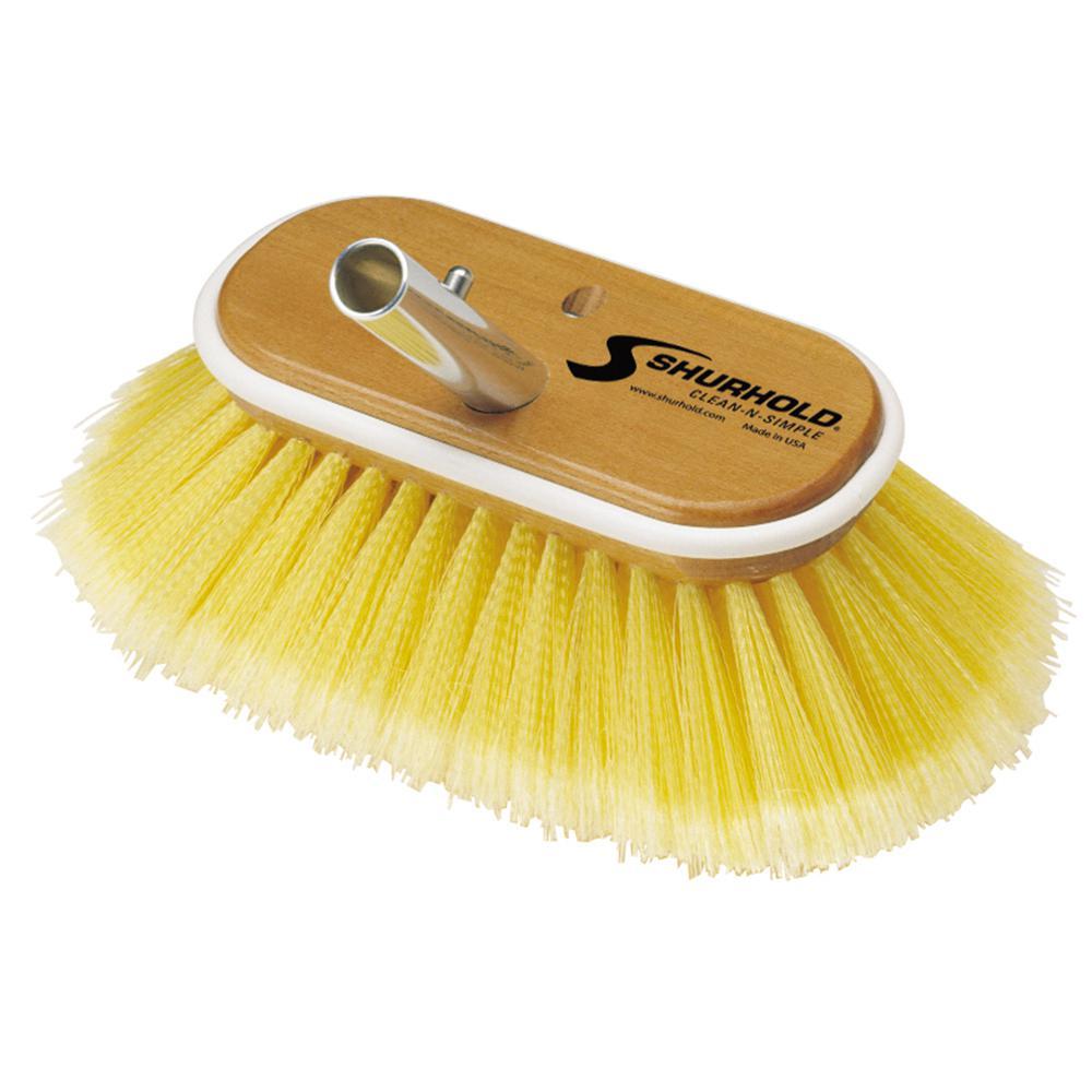 6 in. Deck Soft Brush in Yellow Polystyrene
