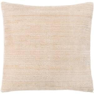 Anita 27 in. x 27 in. Khaki Striped Down Standard Throw Pillow