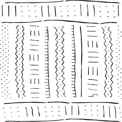 Mudcloth All Over Stencil Pattern