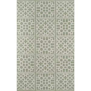 Palm Beach Lake Trail Green 7 ft. 6 in. x 9 ft. 6 in. Indoor Outdoor Area Rug