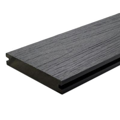 UltraShield Naturale Magellan 1 in. x 6 in. x 16 ft. Westminster Gray Solid w/ Groove Composite Decking Board (49-Pack)
