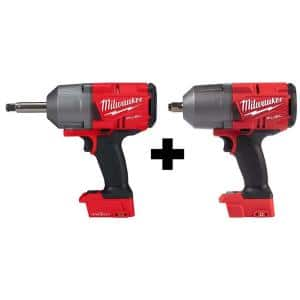 M18 FUEL 18-Volt Lithium-Ion Brushless Cordless 1/2 in. Impact Wrench with Standard and Extended Anvil (Tool-Only)