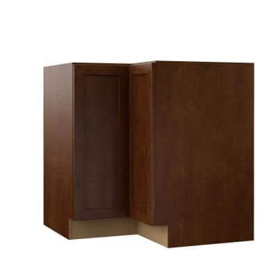 Designer Series Soleste Assembled 33x34.5x20.25 in. Lazy Susan Corner Base Kitchen Cabinet in Spice