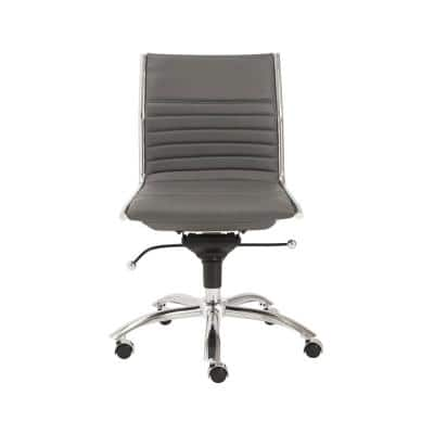 Dirk Gray Armless Low Back Office Chair