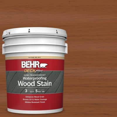5 gal. #ST-122 Redwood Naturaltone Semi-Transparent Waterproofing Exterior Wood Stain