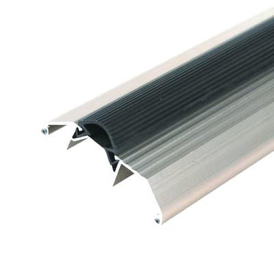 Deluxe High 3.75 in. x 72 in. Satin Nickel Aluminum Threshold with Vinyl Seal