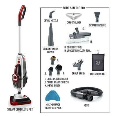 Steam Complete Pet Steam Mop, Hard Floor Steam Cleaner with Removable Multi-Purpose Handheld