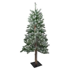 4 ft. Unlit Flocked Alpine Artificial Christmas Tree