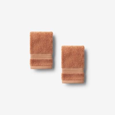 Cotton TENCEL Lyocell Caramel Solid Wash Cloth (Set of 2)