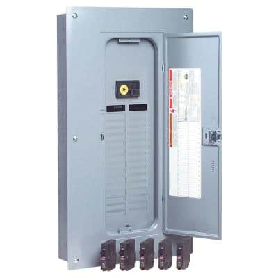 QO 100 Amp 32-Space 38-Circuit Indoor Main Breaker Plug-On Neutral Load Center with Cover Value Pack