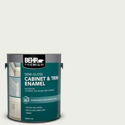 1 gal. #52 White Semi-Gloss Enamel Interior Cabinet and Trim Paint