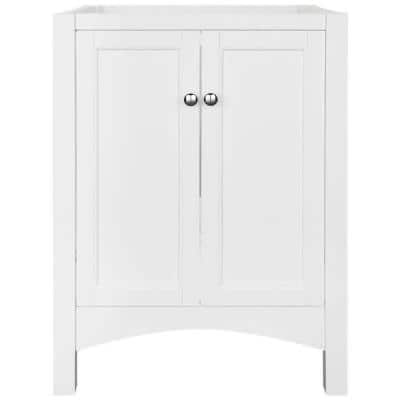 Haven 24 in. W x 18 in. D x 34 in. H Vanity Cabinet Only in White
