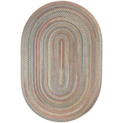 Greenwich Seaweed Multi 4 ft. x 6 ft. Oval Indoor Braided Area Rug