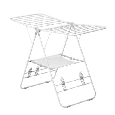 57 in. L x 37 in. H White Heavy-Duty Gullwing Portable Drying Rack