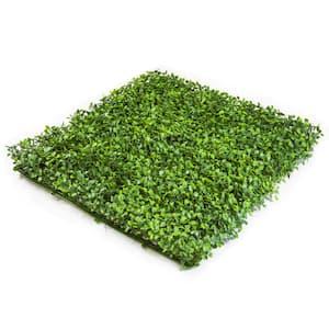 20'' x 20'' Dark Green Milan Leaves-Artificial Boxwood Hedges, Living Wall Panels (12 pcs)