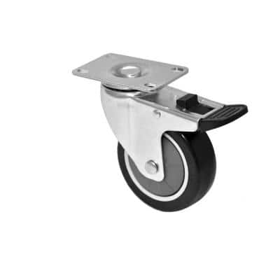 2.5 in. Caster kit with Step Brake and Swivel Lock (Set of 4 with Hardware)