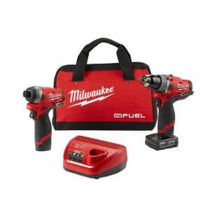 M12 FUEL 12-Volt Lithium-Ion Brushless Cordless Hammer Drill and Impact Driver Combo Kit w/ 2 Batteries and Bag (2-Tool)